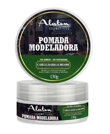 ALATON Pomada Modeladora Profissional para Cabelo, Barba e Bigode 130g