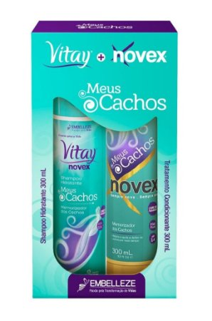 NOVEX Kit Meus Cachos Shampoo Vitay + Condicionador Novex 300ml