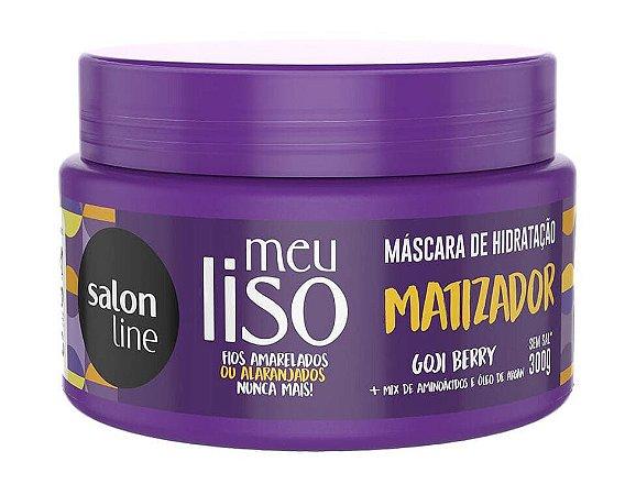 SALON LINE Meu Liso Matizador Máscara Capilar de Hidratação Vegana 300g