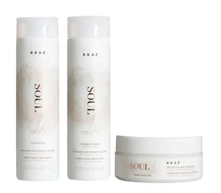 BRAÉ Soul Color kit Shampoo + Condicionador 250ml + Máscara Capilar 200g