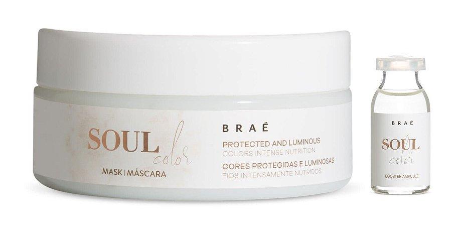 BRAÉ Soul Color Kit Máscara Capilar 200g + Ampola para Hidratação 13ml