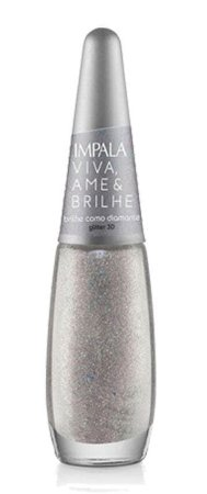 IMPALA Esmalte Viva, Ame & Brilhe Glitter 3D Brilhe como Diamante 7,5ml