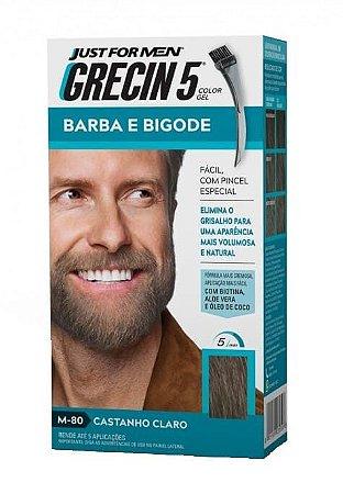 GRECIN5 Color Gel Tonalizante para Barba e Bigode Castanho Claro M-80