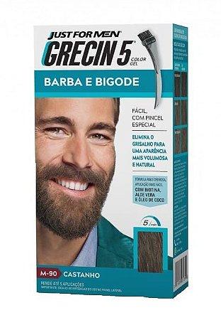 GRECIN5 Color Gel Tonalizante para Barba e Bigode Castanho M-90