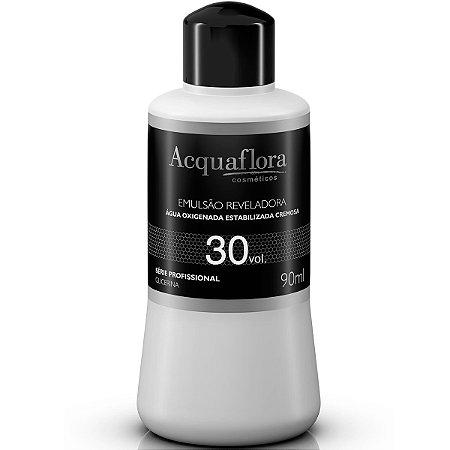 Acquaflora Emulsão Reveladora Água Oxigenada 30vol - 90ml