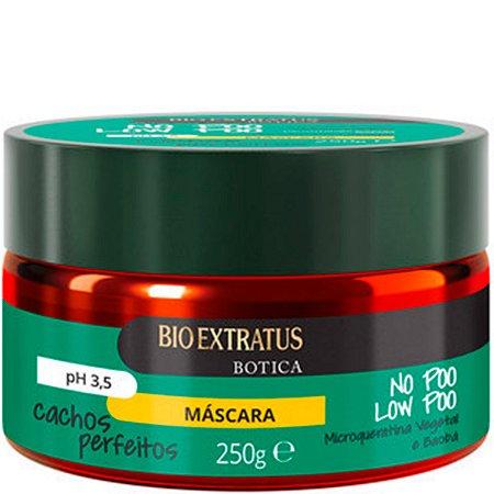 Bio Extratus Botica Cachos Perfeitos No Poo Low Poow Máscara para Cabelos Cacheados 250g