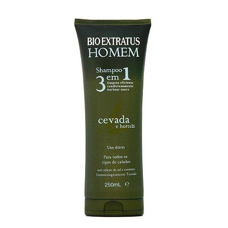 Bio Extratus Homem Cevada e Hortelã Shampoo 3 em 1- 250ml