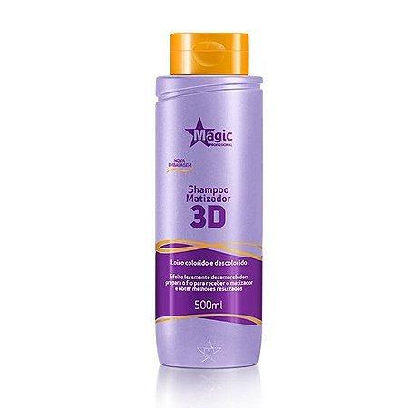 Magic Color Shampoo Matizador 3D Levemente Desamarelador - 500ml