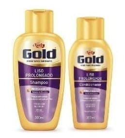 NIELY Gold Liso Prolongado Kit Shampoo 300ml + Condicionador 200ml