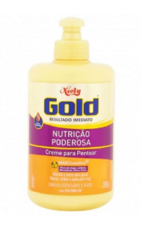 NIELY Gold Nutrição Poderosa Creme para Pentear MaxQueratina 280g