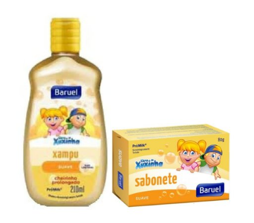 BARUEL Turma da Xuxinha Kit Shampoo 210ml GRÁTIS Sabonete Suave 80g