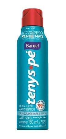 BARUEL Tenys Pé Desodorante para os Pés Menta Fresh Jato Seco 150ml