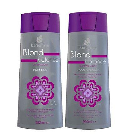 BARROMINAS Blond Balance Kit Desamarelador Shampoo + Condicionador
