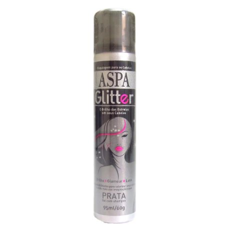 Aspa Glitter Prata Hair Spray Maquiagem Cabelo - 95ml