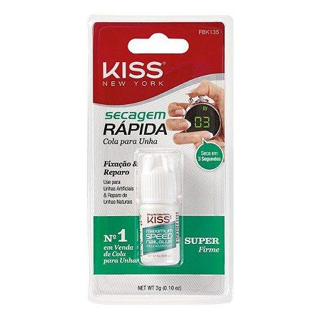 KISS NEW YORK Cola para Unhas Secagem Rápida 3g (FBK135)