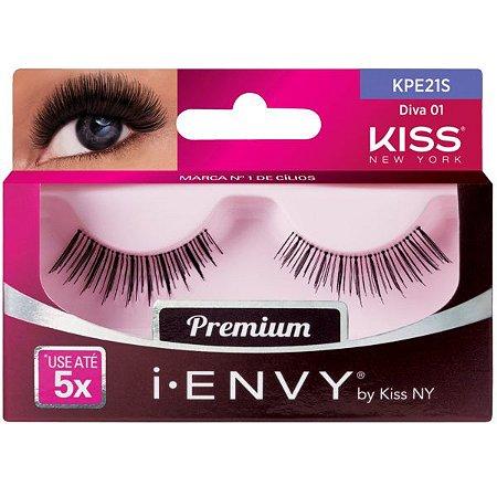 Kiss New York i.Envy Cílios Postiços Diva 01 (KPE21S)
