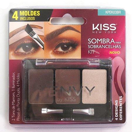 KISS NEW YORK Kit Sombra para Sobrancelhas (KPEK03BR)