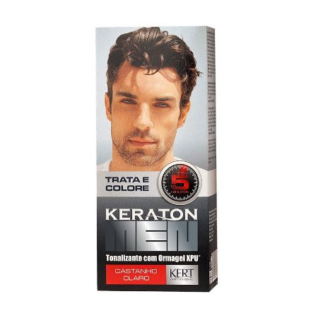 KERATON MEN Tonalizante Castanho Claro