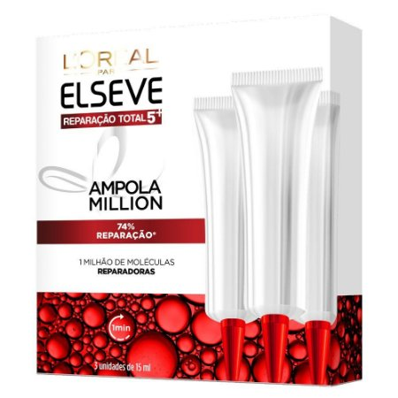 Elseve Reparação Total 5+ Ampola Million - 3x15ml