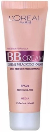 L'Oréal Paris BB Cream FPS 20 Cobertura Natural Média 30ml