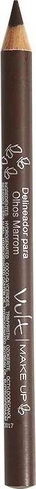 VULT Make Up Lápis Delineador de Madeira para Olhos Marrom 1,2g