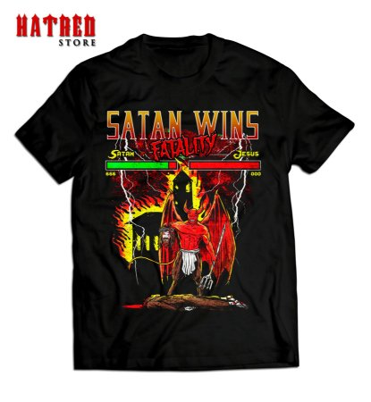 CAMISETA. Satan Wins