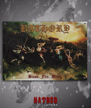 BANDEIRA - BATHORY - Blood, Fire, Death