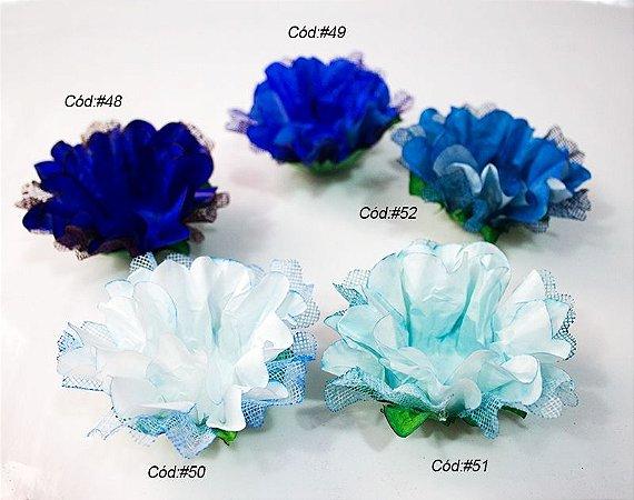 Cravo c/ Tela Tons Azul