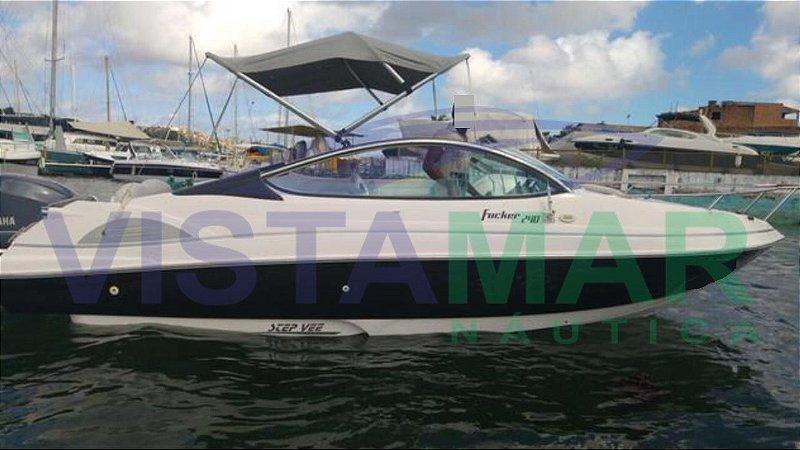 Lancha Focker 240 open com motor Yamaha 4 Tempos