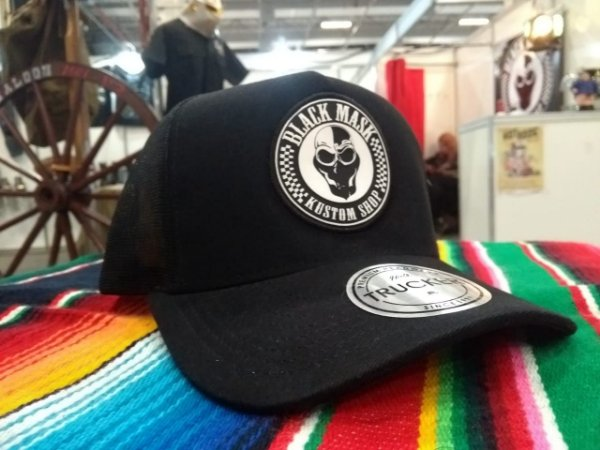 Boné Trucker Aba Curva - Black Mask Kustom
