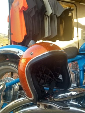Capacete Orange Candy Flake