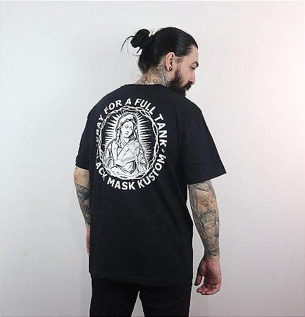 Camiseta Pray For a Full Tank - Preta