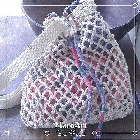 Bolsa/Mochila de crochê