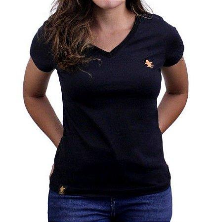 Camiseta Feminina Sacudido's Basica - Preto