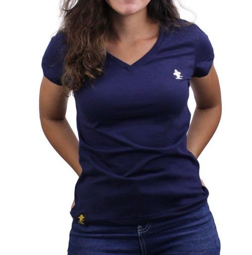 Camiseta Feminina Sacudido's Basica - Marinho
