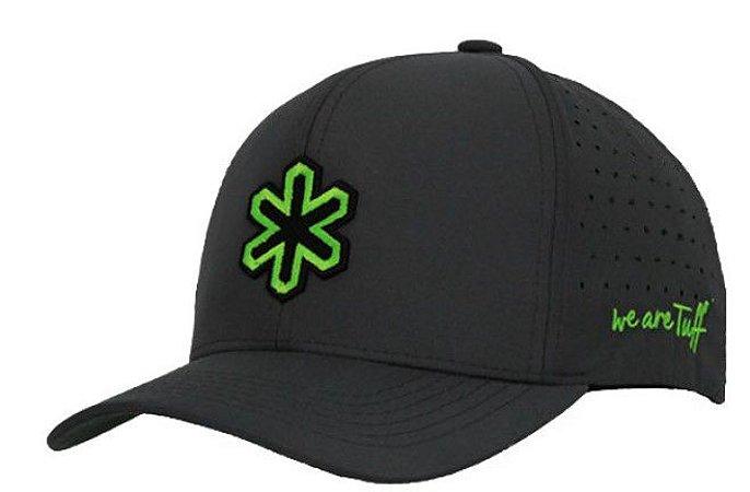 Boné Tuff Sox Chumbo Logo Verde