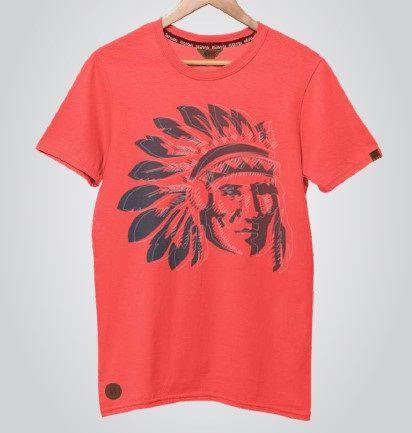 Camiseta Red Man Índio Goiaba