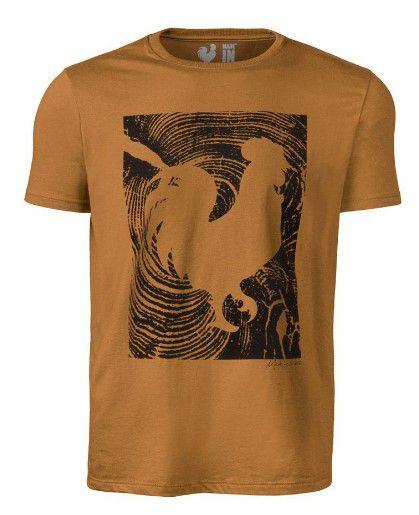 Camiseta Made in Mato Masculina Marrom