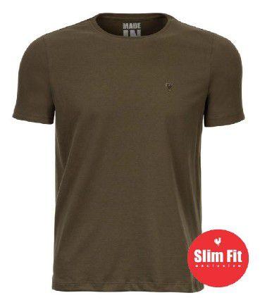 Camiseta Made in Mato Confort Slim Fit Musgo