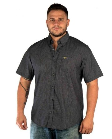 Camisa All Hunter Xadrez Manga Curta Preta / Branca
