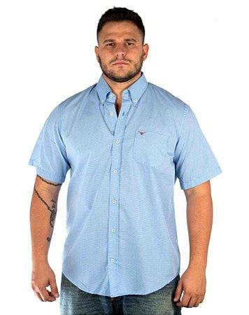 Camisa All Hunter Xadrez Manga Curta - Azul / Azul Marinho