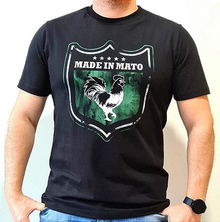 Camiseta Made in Mato Brasão Preta