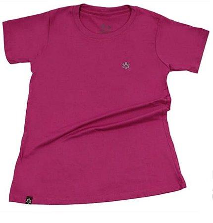 Camiseta Tuff Feminina Pink Logo Turquesa