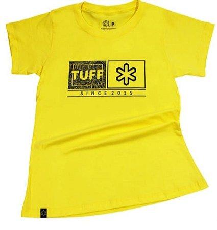 Camiseta Tuff Feminina Amarela Silk Marinho