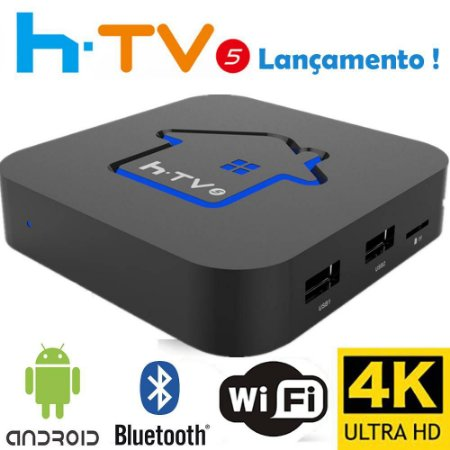 HTV BOX 5 4K SMART TV WI-FI HD ANDROID NETFLIX