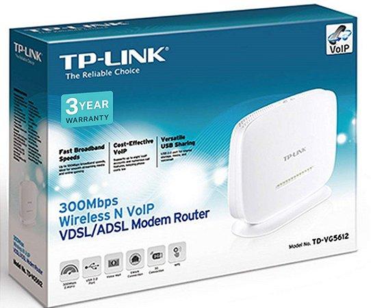 Roteador Tp-link Td-vg5612 300mbps Wireless Voip Vdsl/adsl