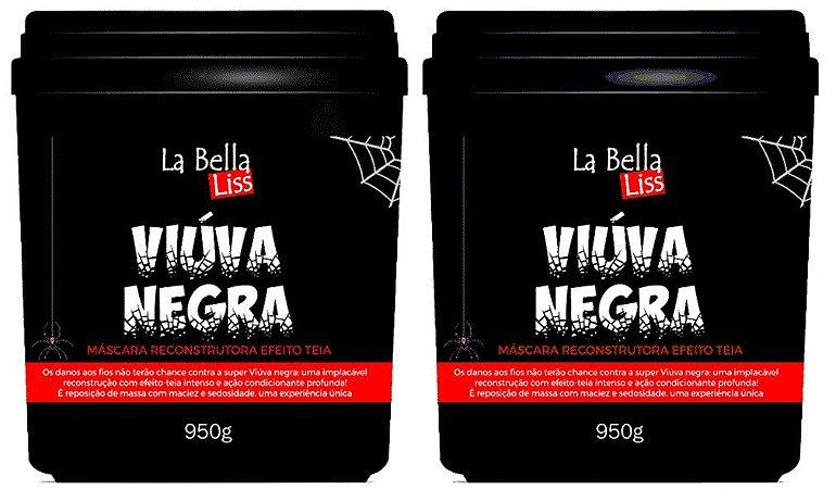 Kit 2 Máscaras Reconstrutoras Viúva Negra Efeito Teia La Bella Liss 950g
