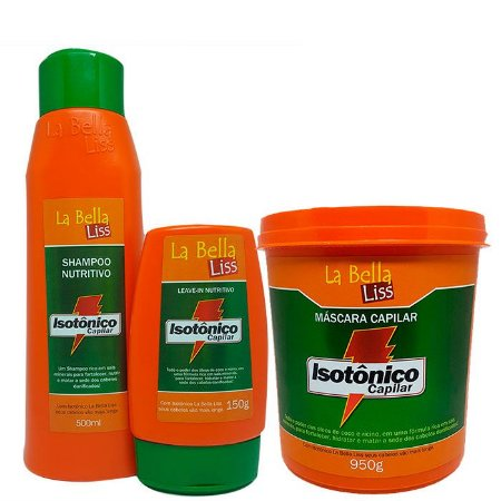 Isotônico Capilar Kit Shampoo 500ml + Leave-in 150g + Máscara 950g