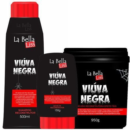 Viúva Negra Kit Shampoo 500ML + Leave-in 150g + Máscara 950g La Bella Liss