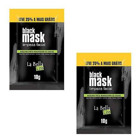 Black Mask Máscara Preta Removedora de Cravos 10G Kit Com 2 Unidades La Bella Liss